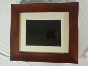 """Philips Digital Photo Frame 8"""" LCD Panel Brown Wood Frame SPF3480T/G7  No Remote"""