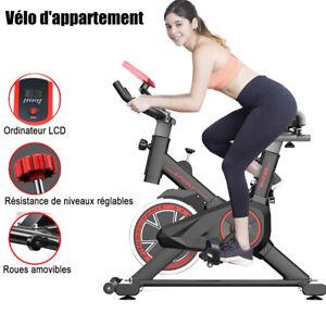 Vélo d'appartement Appareil cyclisme d'intérieur fitness exercice capteur pouls