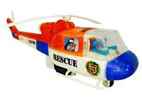 Vintage ©1976 Durham Industries RESCUE COPTER Helicopter Wind-Up Toy No. 5770