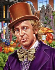 Jason Edmiston Signed Willy Wonka Movie Poster Candy Man Print Mondo Art 3/75
