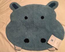 Saturday Knight Limited Blue 'Safari' 100% Cotton Hippo Bath Rug
