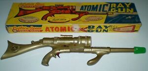 MARX CAPTAIN SPACE SOLAR SCOUT *GOLD* ATOMIC RAY GUN Complete SUPERB COND. w/Box