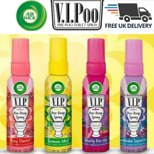 Air Wick VIPoo Toilet Spray Air Freshener- Lemon, Lavender, Rosy , Fruity