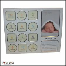 "New Baby ""My First Year"" Photo Frame with Birth Record"