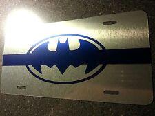 THIN BLUE LINE, License Plate, BATMAN,  Patrol Car, cop, POPO, Police, SWAT