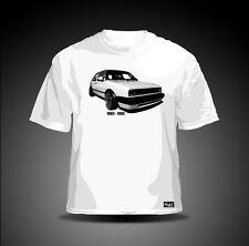 "EAKS® Herren T-Shirt ""GOLF 2"" weiß Gti-Fahrer mk2 Oldtimer Youngtimer Car Tuning"