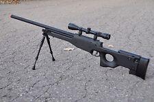 One AIr Soft Black WELL Tactical L96 AWP Airsoft Sniper Rifle W/ Scope + Bipod