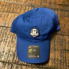 Nike Heritage86 Ryder Cup Golf Hat 2018 AO4145 431 Blue Adjustable Strapback