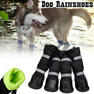 4pcs Outdoor Long Waterproof Non-slip Dog Boots Dog Shoes Dog Rainshoes  !F