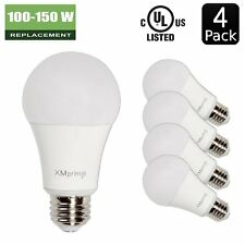 14W  100 - 150 Watt Equivalent  4 Pack A19 LED Light Bulb, 1600 Lumens 5000K E26