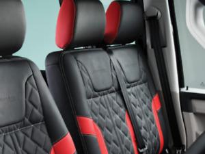 VW Transporter Sportline T6.1, T6, T5.1 Leather Seat Covers Trim Kits Black