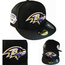 New Era NFL Baltimore Ravens 5950 Fitted Hat Leather NFL Team Side Patch Cap