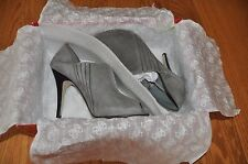 GUESS by MARCIANO 7M Peep Toe Pump High Heels GRAY SUEDE