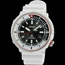 Seiko Street Series Solar Tuna All White Diver's Men's Watch SNE545P1