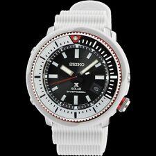 Seiko Street Series Solar Tuna All White Diver's Men's Watch SNE545P1