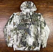 Cabela's Womens ZONZ WOODLAND CAMO Full Zip Hoodie Small White Y