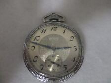 1925 ELGIN 387 POCKETWATCH 17j SIZE 16 -WORKS