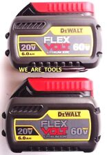 2 NEW GENUINE Dewalt Flexvolt 60V DCB606 6.0 AH Batteries For Drill, Saw 20 Volt