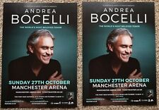 2 Flyers - Andrea Bocelli - Manchester Arena - 27th October 2019 -