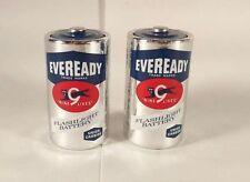 Vintage EVEREADY Nine 9 Lives Flashlight Batteries Union Carbine Size D
