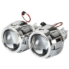 2X 2.5'' LHD RHD Mini Bi-xenon HID Projector Kit Lens Shroud Headlight  H1 H4 H7
