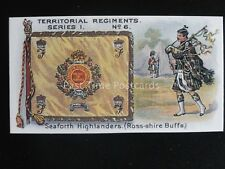 No.6 SEAFORTH HIGHLANDERS ROSS-SHIRE Territorial Regiments REPRO of Taddy 1908