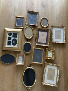 Bilderrahmen Gold Oval Rechteckig Konvolut Alt Vintage 14stck Antik Von Oma