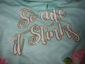 SO CUTE IT STINKS Dog Hoodie Shirt S Preppy Bond & Co New pet Small