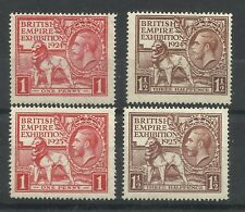 Both Sets of George V, 1924/25 Wembley Issues, Sg 430-433, Unmounted Mint.