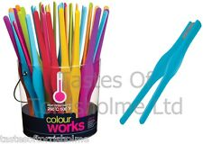 Colourworks 26.5cm Long Silicone Cooking Salad Serving Tweezer Kitchen Tongs