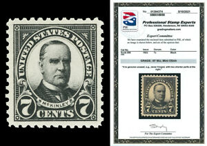 Scott 559 1923 7c McKinley Flat Plate Issue Mint Graded XF 90J NH with PSE CERT!