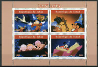 Chad 2019 MNH Fantasia Mickey Mouse 4v M/S I Disney Cartoons Animation Stamps