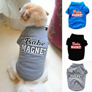 Summer Spring Pet Clothes Lovely Letter Stretch T-Shirt Small Dog Cat Cotton Top