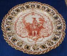 Rare KPM Berlin Porcelain Gentleman Scene Plate Porzellan Teller Scenic German