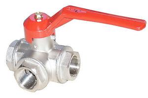 3-way ball valve L-bore PN40