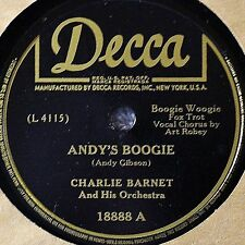 Charlie Barnet Freddie Stewart Andy's Boogie 78 NM Baby You Can Count on Me