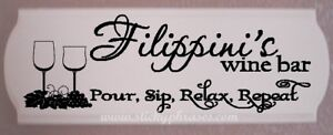 Wine / Bar Plaque / Personalized / Sign