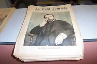 LE PETIT JOURNAL SUPPLEMENT ILLUSTRE N 259 1895 M PAUL DEROULEDE