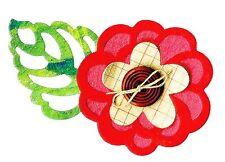 Sizzix Bigz Flowers & Leaves die #658480 Retail $19.99 Cuts Fabric, BEAUTIFUL!!