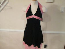 bebe halter dress black /pink small   #689