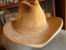 Vtg Henschel Skullys Rawhide Southwestern Cowboy Hat Large Brown Leather USA