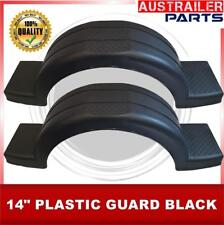 """2 X 14"""" BLACK SINGLE  PLASTIC GUARD WITH STEP AND COVER"""