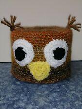 Owl Toilet Paper Cover Handmade Crochet