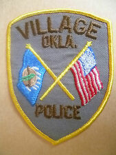 Patches: VILLAGE OKLA. USA POLICE PATCH (NEW*apx. 11.5x9 cm)