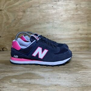 New Balance 574 Shoes Womens Size 9 B Blue Pink Classic Sneaker WL574CPN
