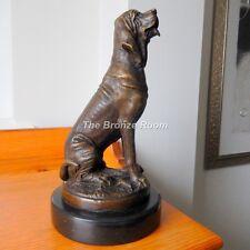 Autentico bronzo-Segugio HOUND DOG SCULTURA dopo Mene su base marmo