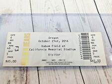 October 21, 2016 California Golden Bears vs Oregon Football Ticket Stub