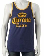 Men's Corona Extra Logo Modelo Mexico Beer Cerveza Distress Tank Top New NWT