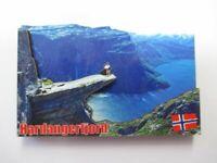 Hardangerfjord Norwegen Holz Souvenir Magnet,Souvenir Norway,Neu