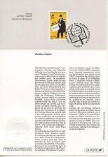 FDC / PREMIER JOUR / HEROS FRANCAIS DU ROMAN POLICIER / ARSENE LUPIN PARIS 1996